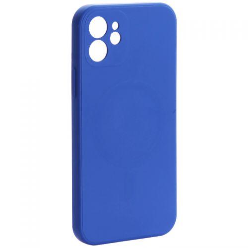 "Чехол-накладка силиконовая J-case Creative Case Liquid Silica Magic Magnetic для iPhone 12 (6.1"") Синий"