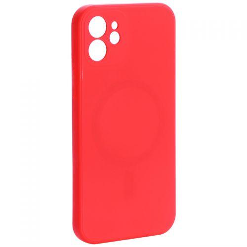 """Чехол-накладка силиконовая J-case Creative Case Liquid Silica Magic Magnetic для iPhone 12 (6.1"""") Красный"""