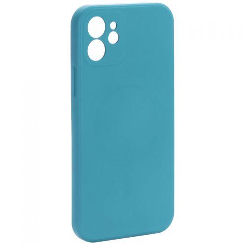 """Чехол-накладка силиконовая J-case Creative Case Liquid Silica Magic Magnetic для iPhone 12 (6.1"""") Зеленый"""