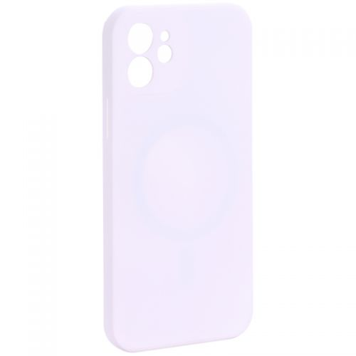 """Чехол-накладка силиконовая J-case Creative Case Liquid Silica Magic Magnetic для iPhone 12 (6.1"""") Белый"""