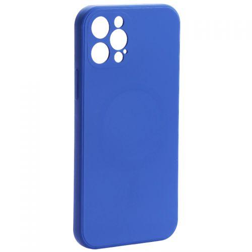 "Чехол-накладка силиконовая J-case Creative Case Liquid Silica Magic Magnetic для iPhone 12 Pro (6.1"") Синий"
