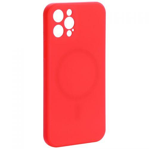 """Чехол-накладка силиконовая J-case Creative Case Liquid Silica Magic Magnetic для iPhone 12 Pro (6.1"""") Красный"""
