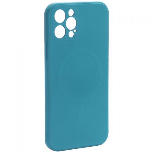 """Чехол-накладка силиконовая J-case Creative Case Liquid Silica Magic Magnetic для iPhone 12 Pro (6.1"""") Зеленый"""
