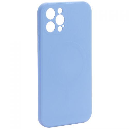 """Чехол-накладка силиконовая J-case Creative Case Liquid Silica Magic Magnetic для iPhone 12 Pro (6.1"""") Серо-лавандовый"""