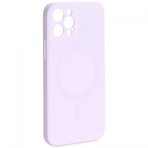 """Чехол-накладка силиконовая J-case Creative Case Liquid Silica Magic Magnetic для iPhone 12 Pro (6.1"""") Белый"""