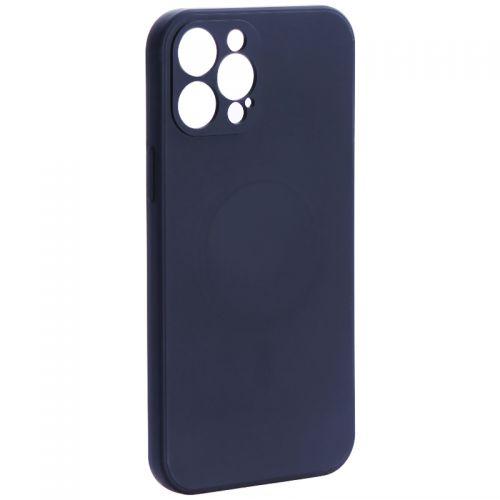 """Чехол-накладка силиконовая J-case Creative Case Liquid Silica Magic Magnetic для iPhone 12 Pro Max (6.7"""") Черный"""