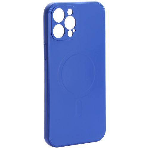 "Чехол-накладка силиконовая J-case Creative Case Liquid Silica Magic Magnetic для iPhone 12 Pro Max (6.7"") Синий"