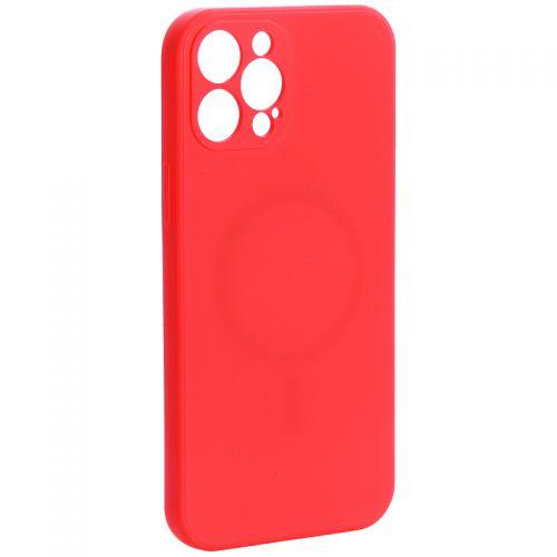 """Чехол-накладка силиконовая J-case Creative Case Liquid Silica Magic Magnetic для iPhone 12 Pro Max (6.7"""") Красный"""