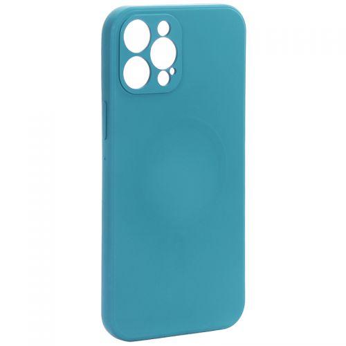 """Чехол-накладка силиконовая J-case Creative Case Liquid Silica Magic Magnetic для iPhone 12 Pro Max (6.7"""") Зеленый"""