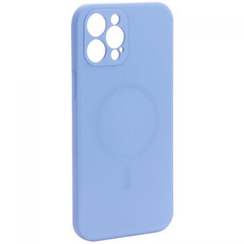 "Чехол-накладка силиконовая J-case Creative Case Liquid Silica Magic Magnetic для iPhone 12 Pro Max (6.7"") Серо-лавандовый"