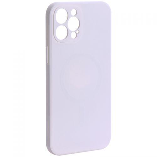 "Чехол-накладка силиконовая J-case Creative Case Liquid Silica Magic Magnetic для iPhone 12 Pro Max (6.7"") Белый"