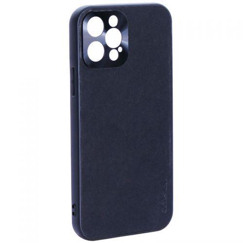 """Чехол-накладка пластиковая GKS Design Creative Case с силиконовыми бортами для iPhone 12 Pro (6.1"""") Черный"""