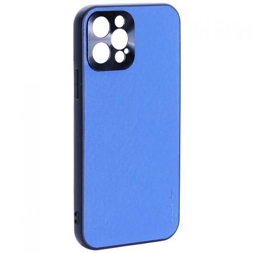 """Чехол-накладка пластиковая GKS Design Creative Case с силиконовыми бортами для iPhone 12 Pro (6.1"""") Синий"""