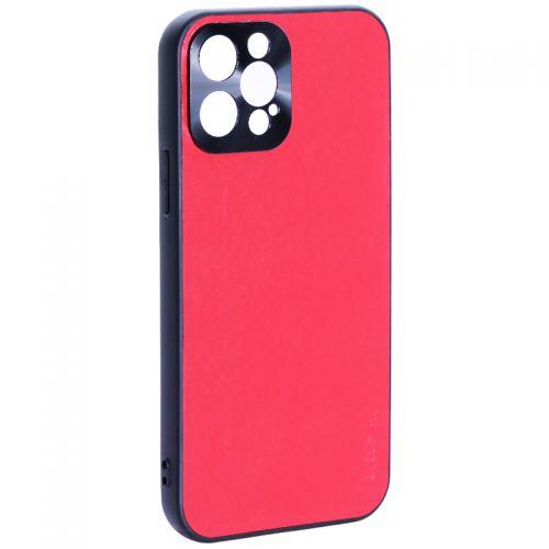"""Чехол-накладка пластиковая GKS Design Creative Case с силиконовыми бортами для iPhone 12 Pro (6.1"""") Красный"""
