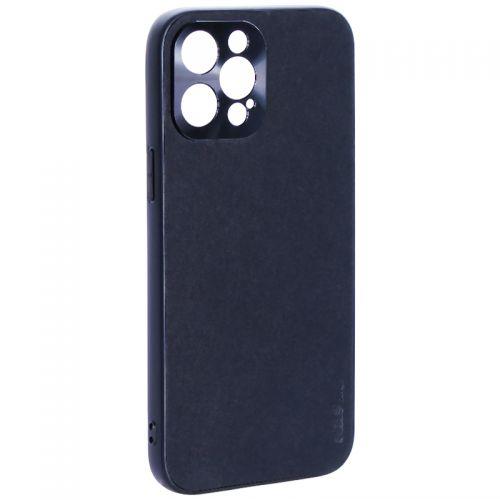 """Чехол-накладка пластиковая GKS Design Creative Case с силиконовыми бортами для iPhone 12 Pro Max (6.7"""") Черный"""