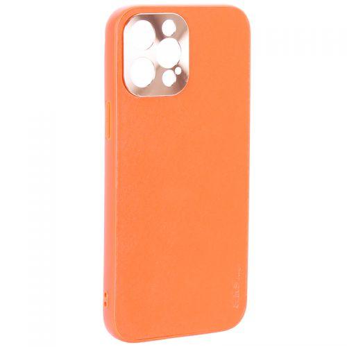 """Чехол-накладка пластиковая GKS Design Creative Case с силиконовыми бортами для iPhone 12 Pro Max (6.7"""") Оранжевый"""
