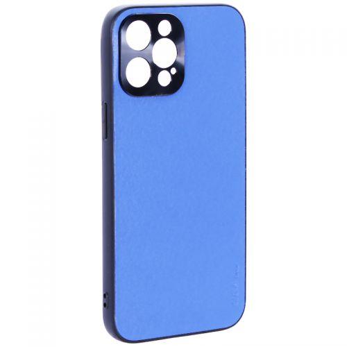 """Чехол-накладка пластиковая GKS Design Creative Case с силиконовыми бортами для iPhone 12 Pro Max (6.7"""") Синий"""