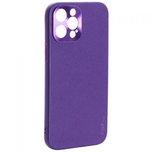 """Чехол-накладка пластиковая GKS Design Creative Case с силиконовыми бортами для iPhone 12 Pro Max (6.7"""") Фиолетовый"""