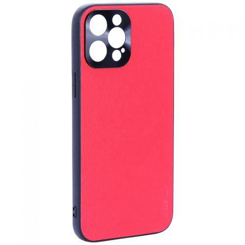 """Чехол-накладка пластиковая GKS Design Creative Case с силиконовыми бортами для iPhone 12 Pro Max (6.7"""") Красный"""