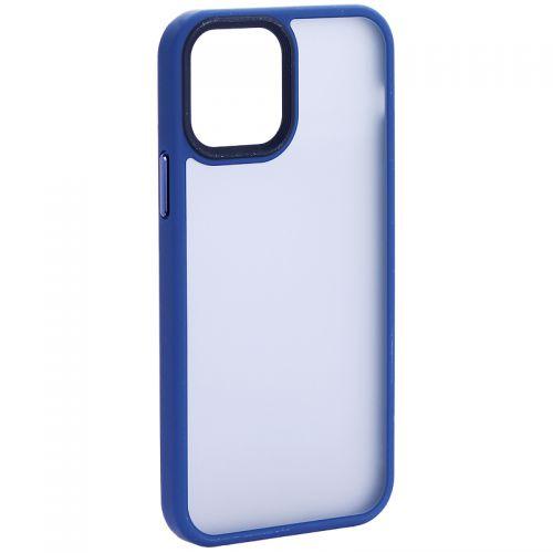 """Чехол-накладка пластиковая DFANS Design Be Different Case с силиконовыми бортами для iPhone 12/ 12 Pro (6.1"""") Синий"""