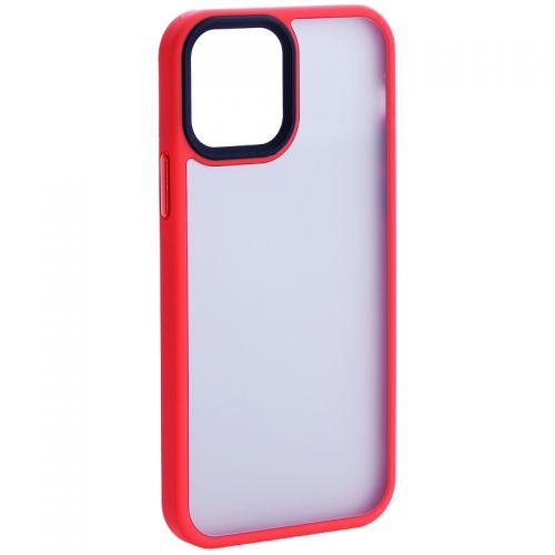 """Чехол-накладка пластиковая DFANS Design Be Different Case с силиконовыми бортами для iPhone 12/ 12 Pro (6.1"""") Красный"""