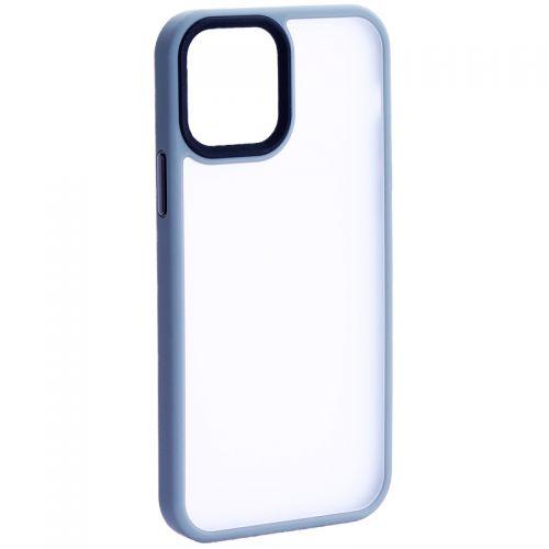 """Чехол-накладка пластиковая DFANS Design Be Different Case с силиконовыми бортами для iPhone 12/ 12 Pro (6.1"""") Серый"""