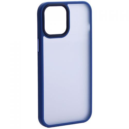 """Чехол-накладка пластиковая DFANS Design Be Different Case с силиконовыми бортами для iPhone 12 Pro Max (6.7"""") Синий"""