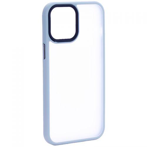 """Чехол-накладка пластиковая DFANS Design Be Different Case с силиконовыми бортами для iPhone 12 Pro Max (6.7"""") Серый"""