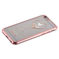 Чехол KINGXBAR для iPhone 6s/ 6 Swarovski Розовый