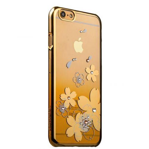 Чехол KINGXBAR для iPhone 6s/ 6 Swarovski Золотой