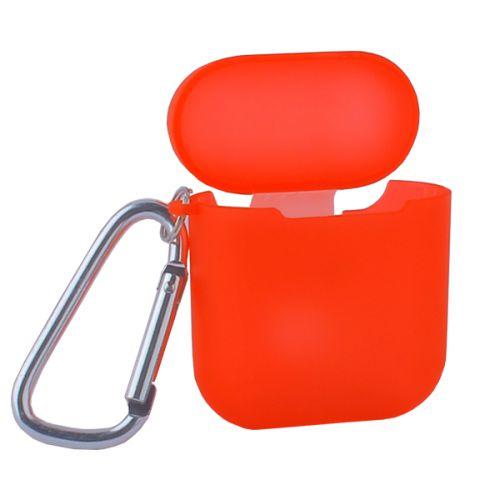 Чехол силиконовый COTEetCI для AirPods с карабином Case (Полупрозрачно-красный)