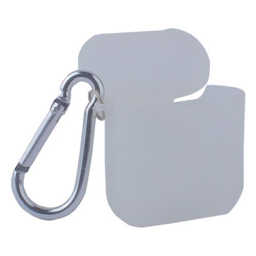 Чехол силиконовый COTEetCI для AirPods с карабином Case (Полупрозрачный)