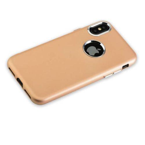 Чехол J-Case Metal Touch Series Matt для iPhone X Золотистый