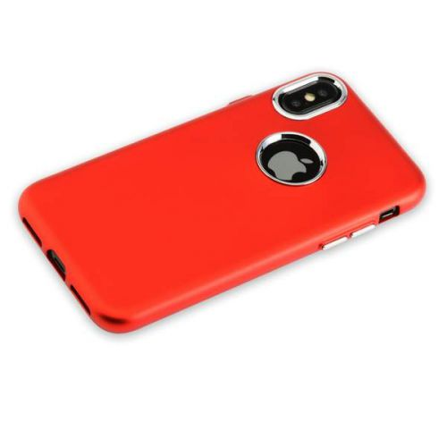 Чехол J-Case Metal Touch Series Matt для iPhone X Красный