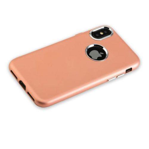 Чехол J-Case Metal Touch Series Matt для iPhone X Розовое золото