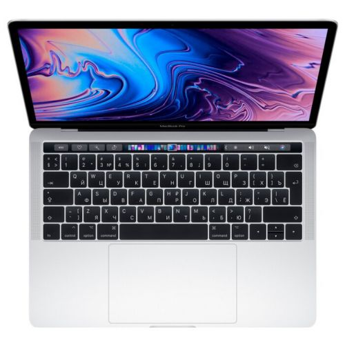 "Ноутбук Apple MacBook Pro 13 with Retina display and Touch Bar Mid 2019 (Intel Core i5 1400 MHz/13.3""/2560x1600/8GB/128GB SSD/DVD нет/Intel Iris Plus Graphics 645/Wi-Fi/Bluetooth/macOS) MUHQ2 Серебристый"