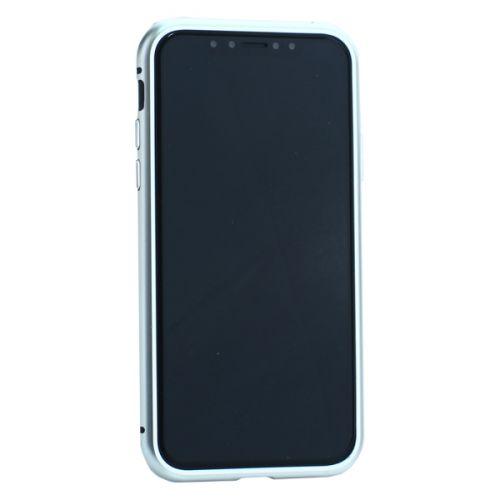 Чехол закаленное стекло с магнитной рамкой Baseus Magnetite Hardware для iPhone XS/ X Черный