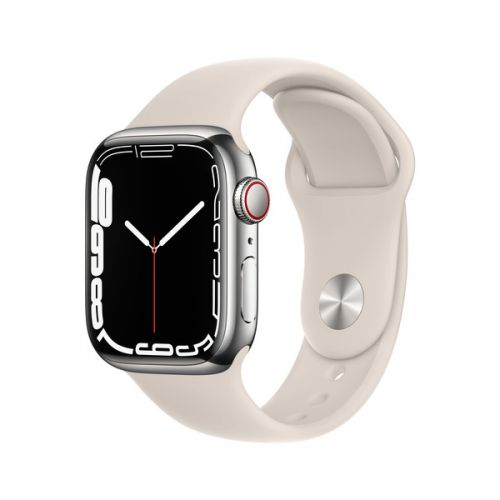 Умные часы Apple Watch Series 7 45mm Starlight Aluminum Case with Sport Band (Starlight)