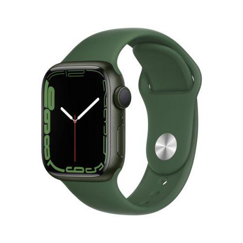 Умные часы Apple Watch Series 7 45mm Green Aluminum Case with Sport Band (Clover)