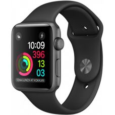 Apple Watch Sport series 1 38mm Aluminum Case with Sport Band Black