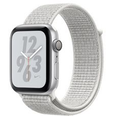 Apple Watch Series 4 44mm Silver Aluminum Case with Nike Sport Loop (Summit White)