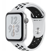 Apple Watch Series 4 44mm Silver Aluminum Case with Nike Sport Band (Pure Platinum/White)
