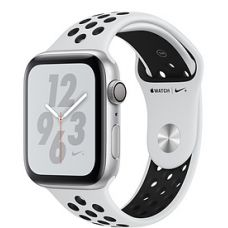 Apple Watch Series 4 44mm Silver Aluminum Case with Nike Sport Band (Pure Platinum/Black)