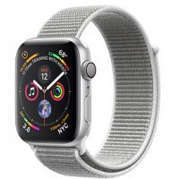Apple Watch Series 4 40mm Silver Aluminum Case with Sport Loop (Seashell)