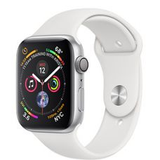 Apple Watch Series 4 40mm Silver Aluminum Case with Sport Band (White)