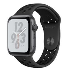 Apple Watch Series 4 44mm Space Gray Aluminum Case with Nike Sport Band (Anthracite/Black)