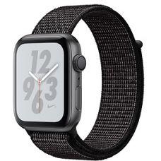 Apple Watch Series 4 44mm Space Gray Aluminum Case with Nike Sport Loop (Black)