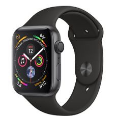 Apple Watch Series 4 40mm Space Gray Aluminum Case with Sport Band (Black)