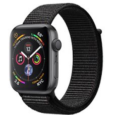 Apple Watch Series 4 40mm Space Gray Aluminum Case with Sport Loop (Black)