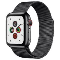 Apple Watch Series 5 40mm Stainless Steel Case with Milanese Loop Black